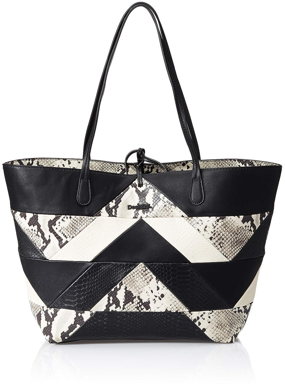 Desigual sac 18saxpdk snake color patch capri noir Sacs portés épaule femme Schwarz (Negro) 28x13x30 cm (B x H T)