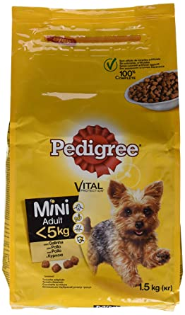 Pedigree Piensos Para Perros Pequeños Sabor Buey y Verduras - 1500 gr