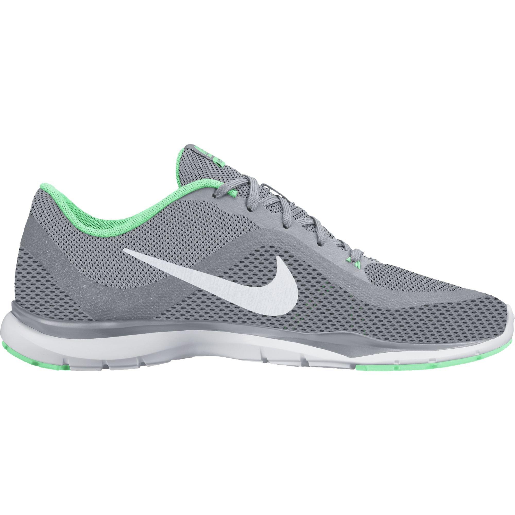 Nike Women's Flex Trainer 6 Training Shoes Wolf Grey/Platinum/Green Glow Size 9.5 M US