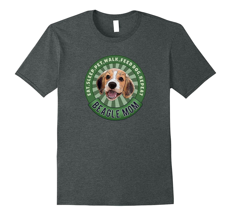 Beagle Mom Eat Sleep Dog Repeat TShirt
