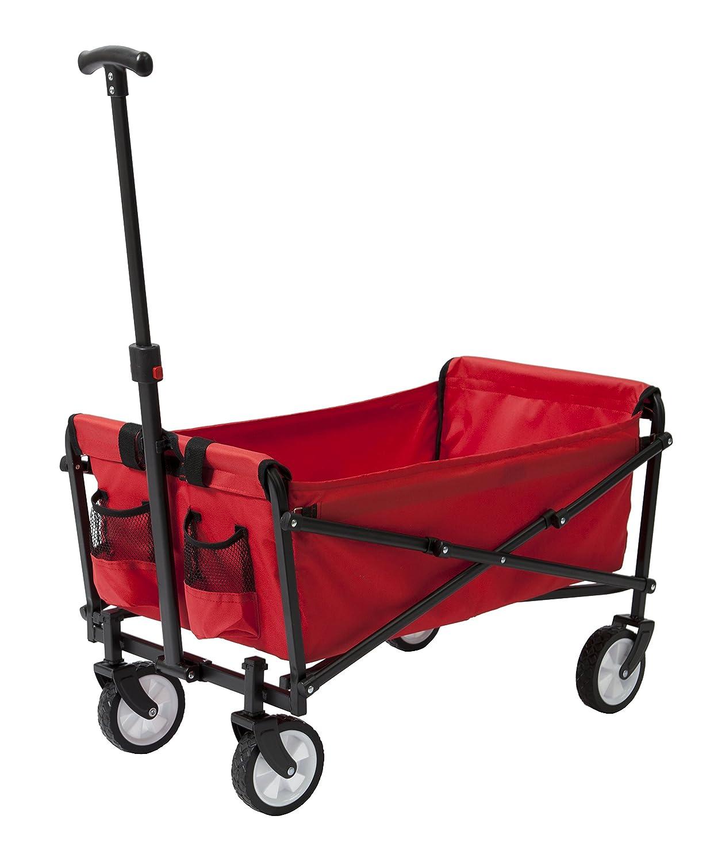 ysc Wagon Jardín plegable Utilidad Carrito de la compra, playa rojo: Amazon.es: Jardín