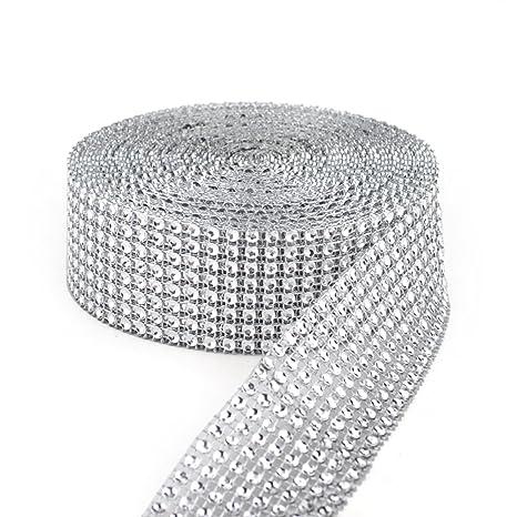 Y&Y Star - Cinta de malla con diamantes de imitación de 24 ...