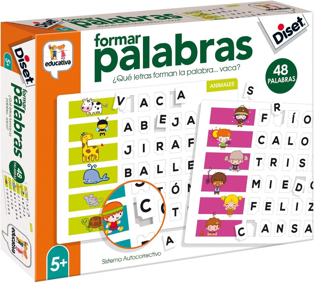 Diset- Aprendo 5 años Juguete educativos Formar Palabras (68952) , color/modelo surtido: Amazon.es: Juguetes y juegos