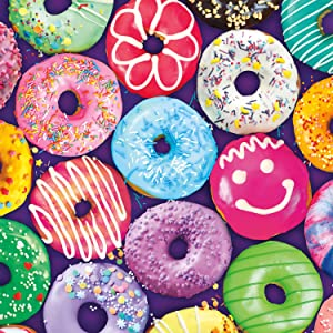 Buffalo Games - Delightful Donuts - 300 Large Piece Jigsaw Puzzle Multicolor, 18