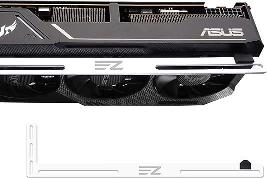 EZDIY-FAB GPU Bracket Graphics Card Brace Support,Video Card Holder,GPU Holder for Custom Desktop PC Gaming-3mm Aluminum-White