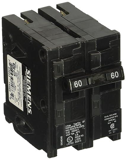 60 Amp Breaker >> Q260 60 Amp Double Pole Type Qp Circuit Breaker