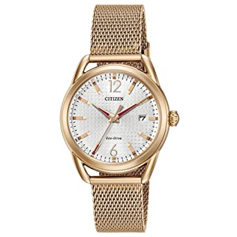 Citizen Womens Eco-Drive Mesh Bracelet Watch