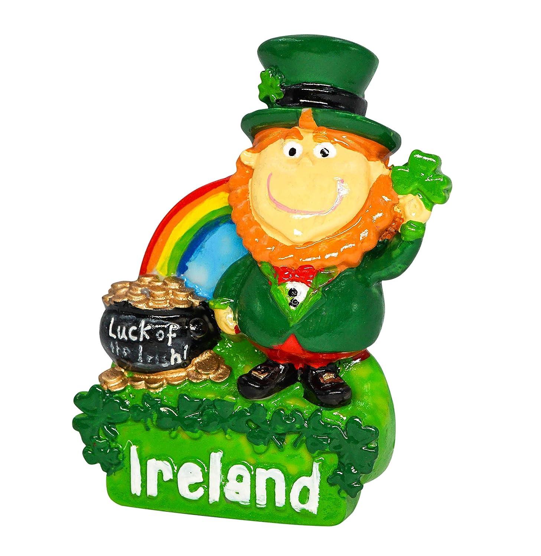 zamonji Leprechaun 3D R/ésine R/éfrig/érateur Aimants De Cuisine Home Decor Tourist Souvenir de Voyage Irlande Dublin