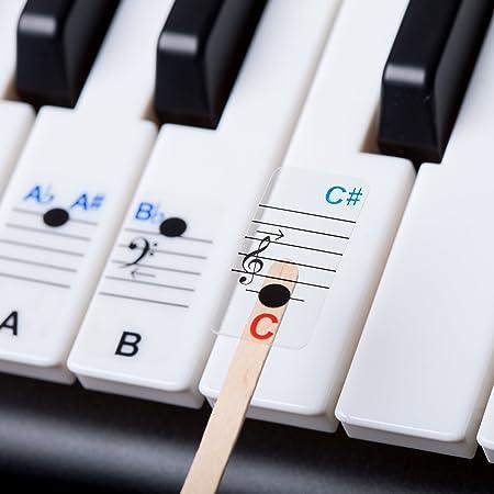 Llaves todas las notas. Pegatinas de piano para todos los ...