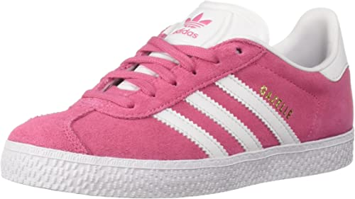 adidas Youth Gazelle Suede Synthetic Pink White Formateurs
