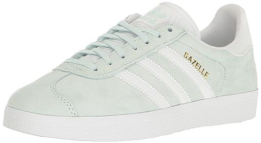 adidas Originals Women's Shoes | Gazelle Sneakers, Ice MintWhiteMetallic Gold, (8.5 M US)