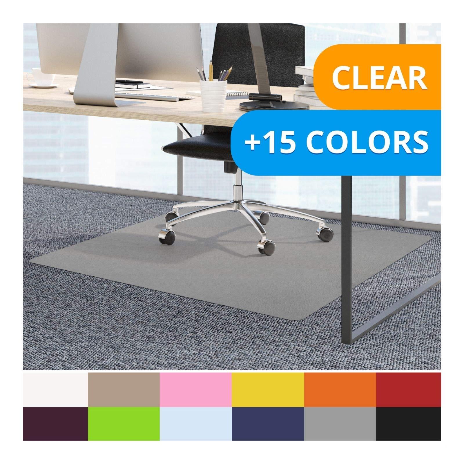 casa pura Office Chair Mats for Carpeted Floors - 48''x60'' | Carpet Protector Floor Mat, Grey - BPA Free, Odorless | Matching Desk Mats Available