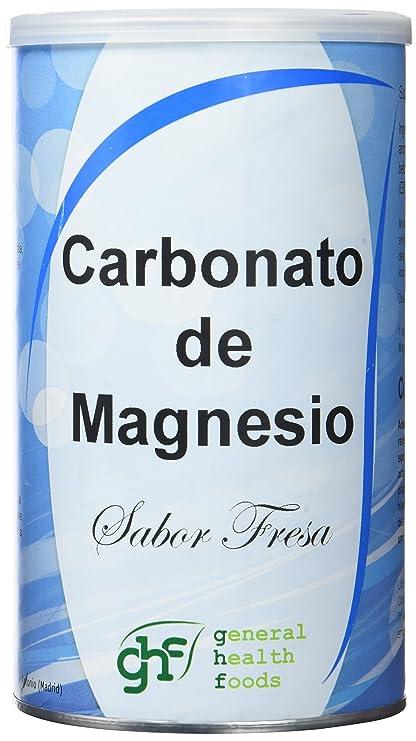 GHF - GHF Carbonato de Magnesio Bote Sabor Fresa 180 gr