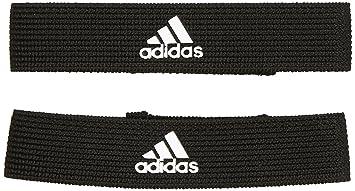 Adidas Stutzenstrumpfhalter Calcetines, Hombre, Negro/Blanco, Talla única