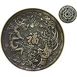 OTOFY Exquisite Tibetan Incense Burner Holder Backflow Incense Cone/Stick/Coil Incense Holders Vintage Decorative Incense Holder (Bronze)