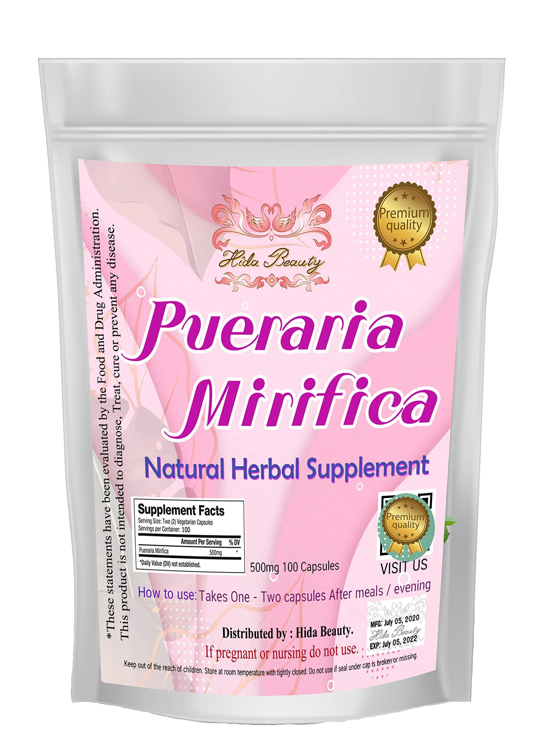 Pueraria mirifica 400 Capsules 500mg Powder in CapsulesBust Enhancement Augmentation Grown in Thailand