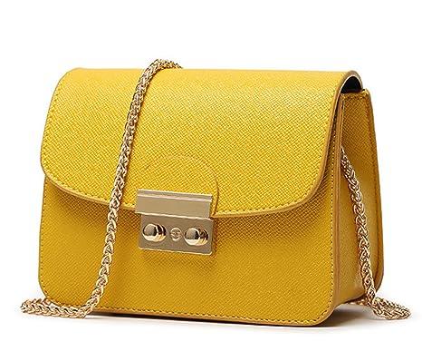 WiTa-Store - Cartera de mano con asa para mujer Amarillo amarillo