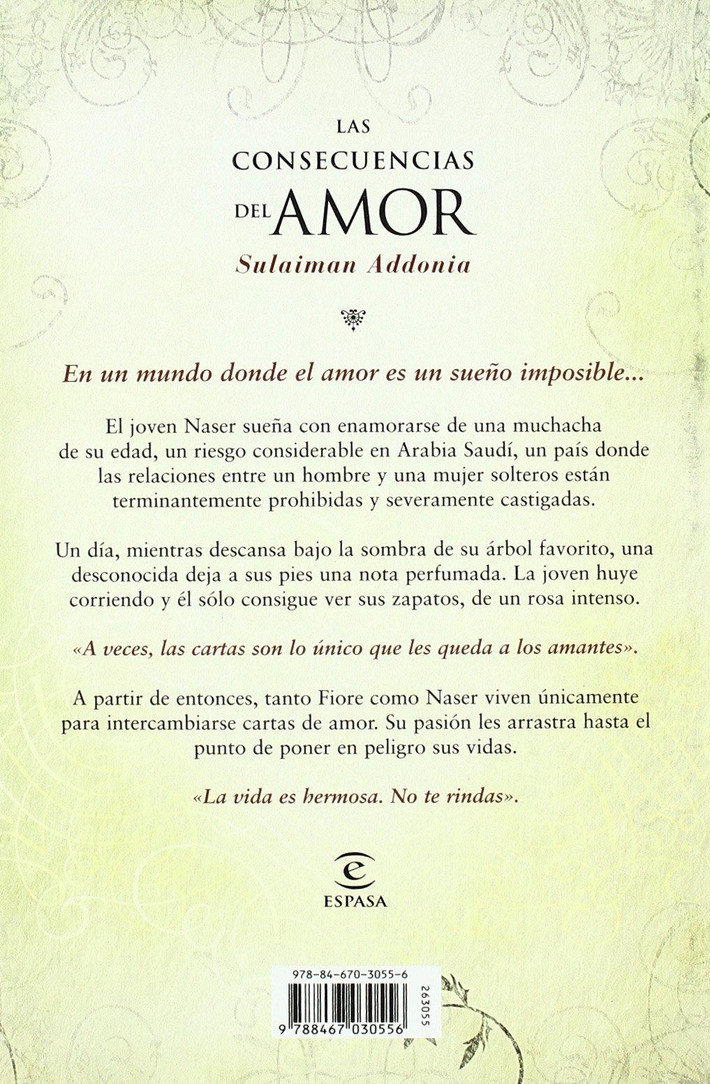 Las consencuencias del amor: Sulaiman Addonia: 9788467030556 ...