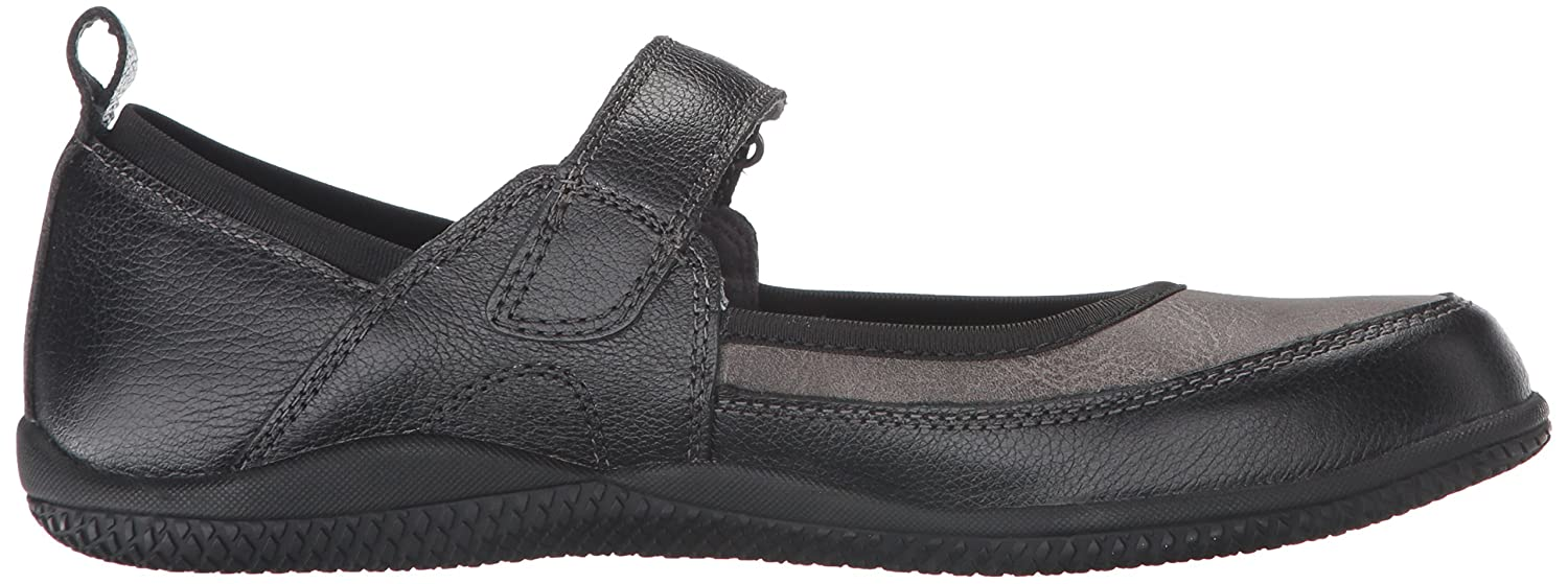 SoftWalk Women's Haddley Mary Jane Flat B019RJOROO 6.5 B(M) US|Black/Dark Grey