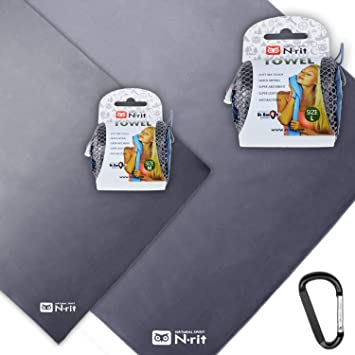 N-Rit + RT Outdoor N de Ríe Set, Ultra Ligera Microfibra Toalla Super