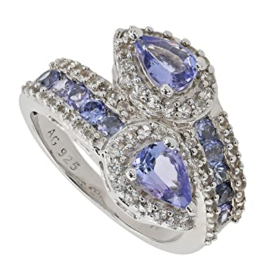 Harry Ivens Ladies Ring Gold Yellow Gold 585 (14 carat) Tanzanite AAA Brilliant vrcqh1J