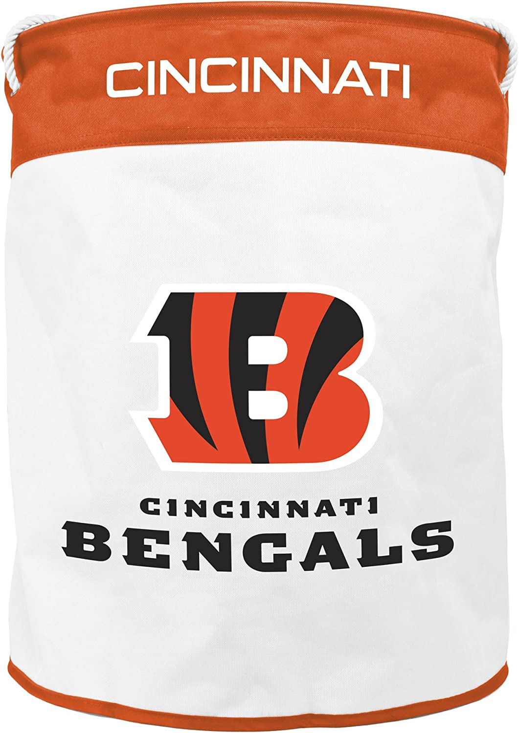 NFL Cincinnati Bengals Canvas Laundry Basket with Braided Rope Handles