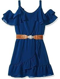 11f97a5d176 Amy Byer Girls  Big Cold-Shoulder Ruffle Front Dress