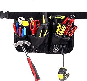 Gardening Tools Belt Bags Garden Waist Bag Hanging Pouch, Black