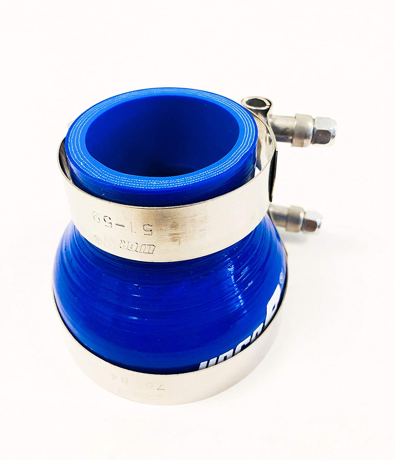 1.5-2 Blue Upgr8 Universal 4-Ply High Performance 1.5 to 2 Straight Reducer Coupler Silicone Hose 38mm to 51mm T Bolt Clamp