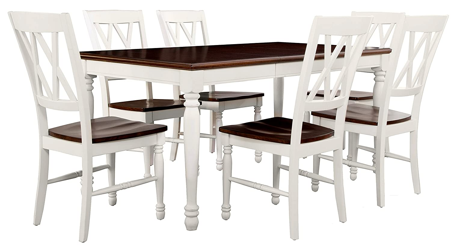 Shelby 7-Piece Dining Set, White