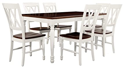 Crosley Furniture KF20001 WH Shelby 7 Piece Dining Set   White