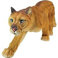 Design Toscano Prowling American Mountain Cougar Garden Statue, 56 cm, Polyresin, Full Color