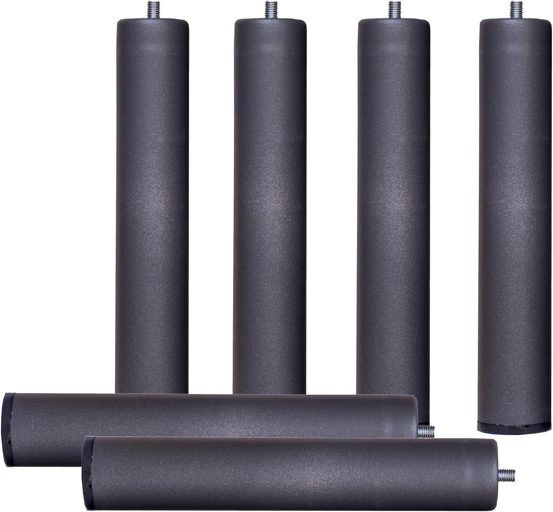 Bonitex - Somier + 6 patas cilindricas 105x200cm: BALDA ANCHA, TUBO ACERO 40x30MM, REFUERZO CENTRAL, Láminas de chopo-flex