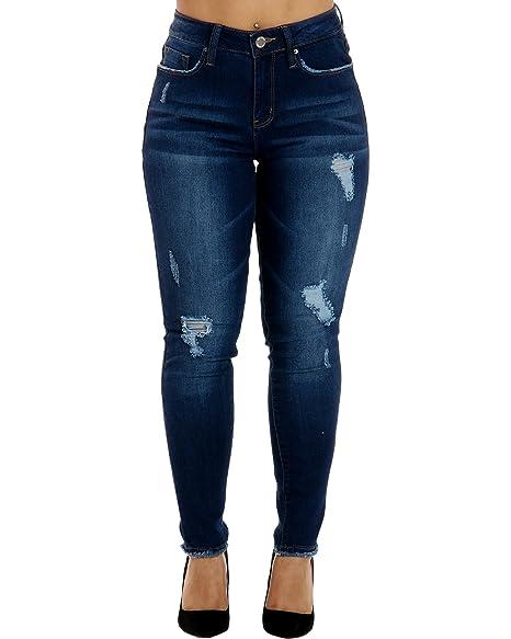 Amazon.com: YMI - Pantalones vaqueros para mujer con cintura ...