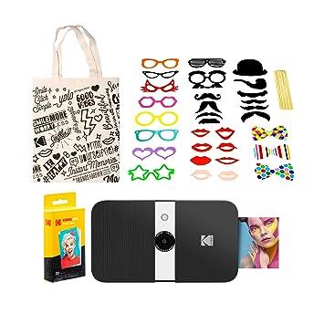 KODAK Smile Impresora Digital instantánea (Blanco/Negro) Kit de ...