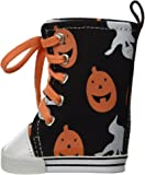 "Unique Doll Clothing Pumpkin and Ghost Halloween High Top Tennis Shoes for American Girl Dolls and Most 18"" Doll"