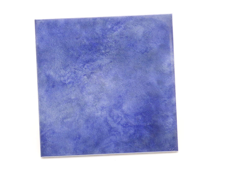 Azulejo semibrillante de color azul marino