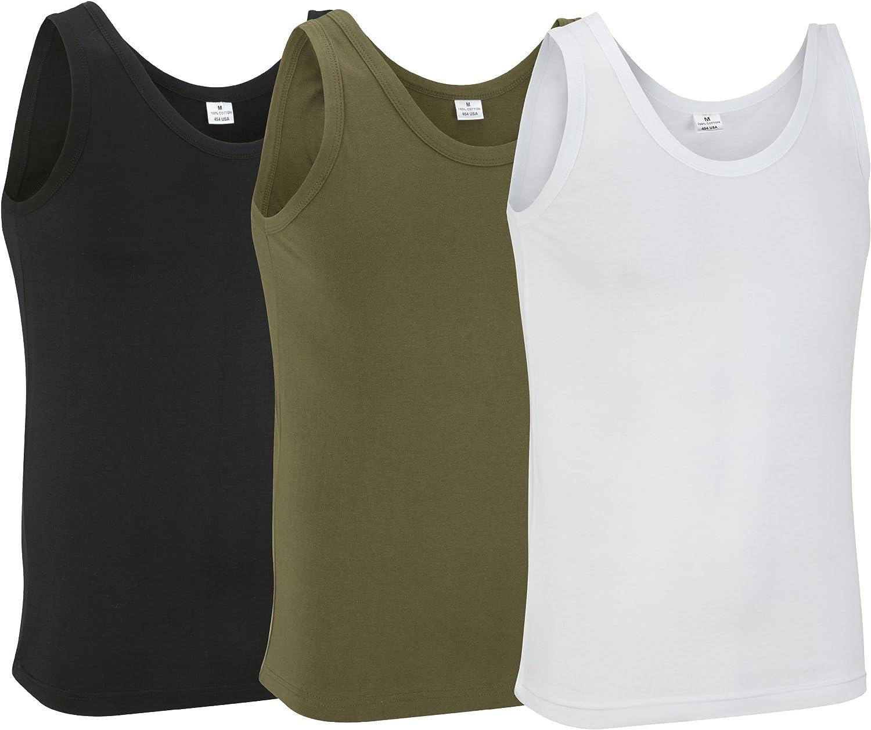 Black 100/% Cotton Vest Top