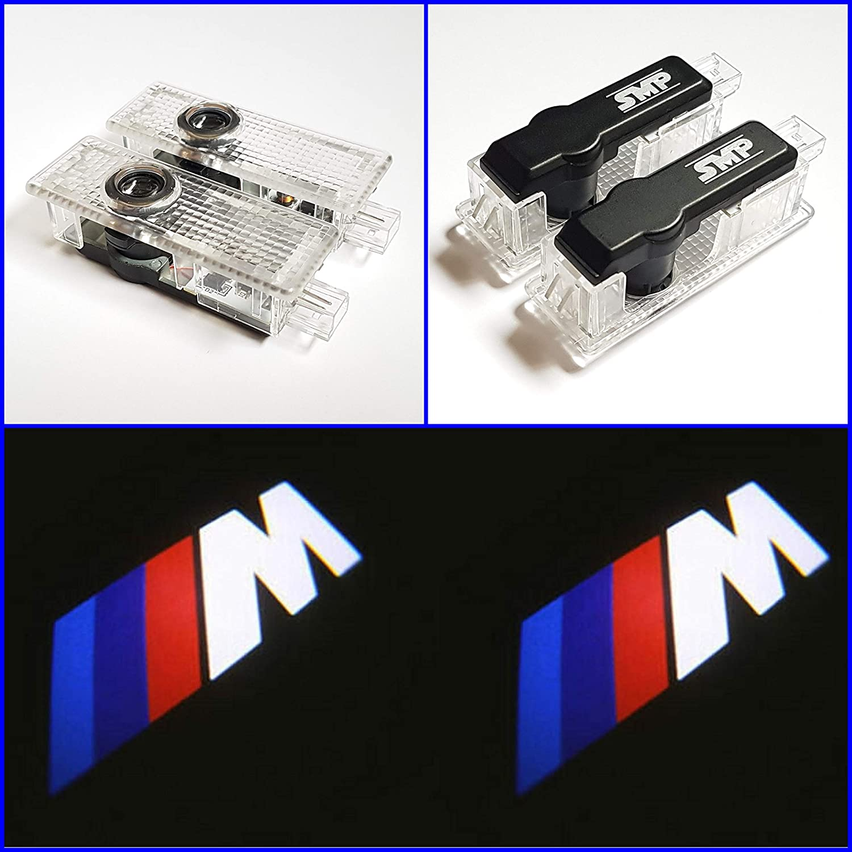 Smp 2x Bmw M Logo Tür Projektor Für Bmw Led Willkommens Licht Mit Bmw M Emblem Türbeleuchtung Einstiegsleuchten Geist Schatten Lampe 63312414105 63316972605 Auto