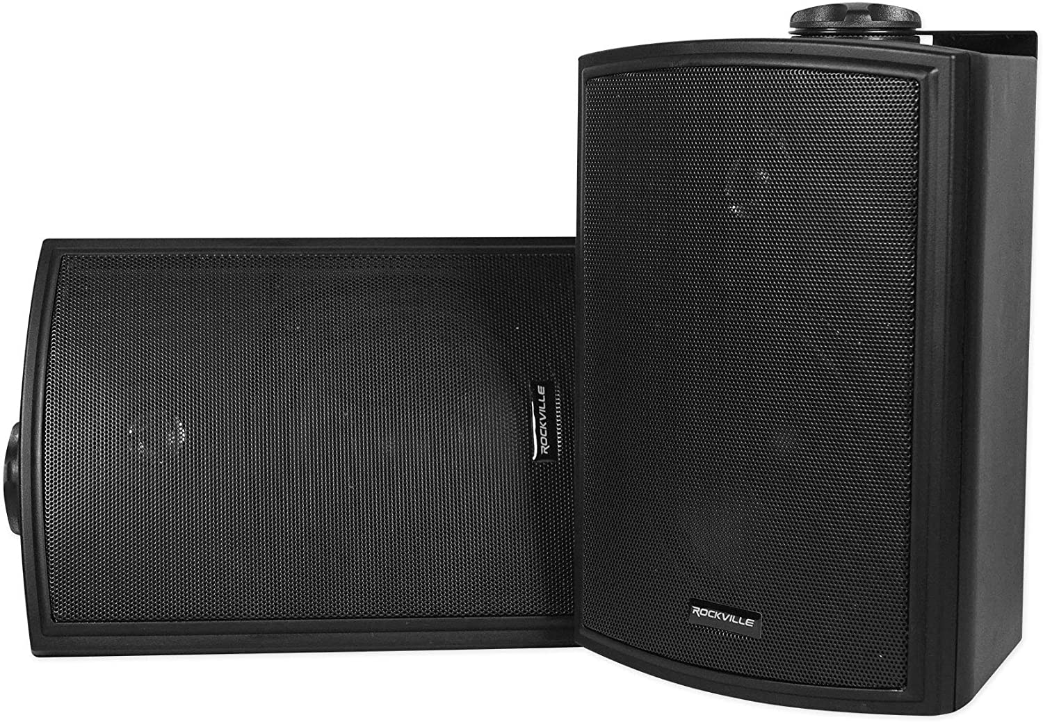 "2 Rockville HP5S-8 BK 5.25"" Outdoor/Indoor Swivel Home Theater Speakers in Black 81g6ZepUNbL"