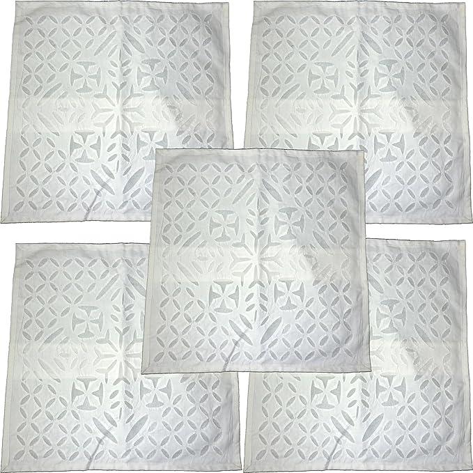 Amazon.com: 5 Pieces Set Aplic Work Throw Pillow Covers ...