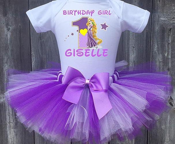 Amazon Rapunzel Personalized Birthday Outfit Tutu Set Handmade