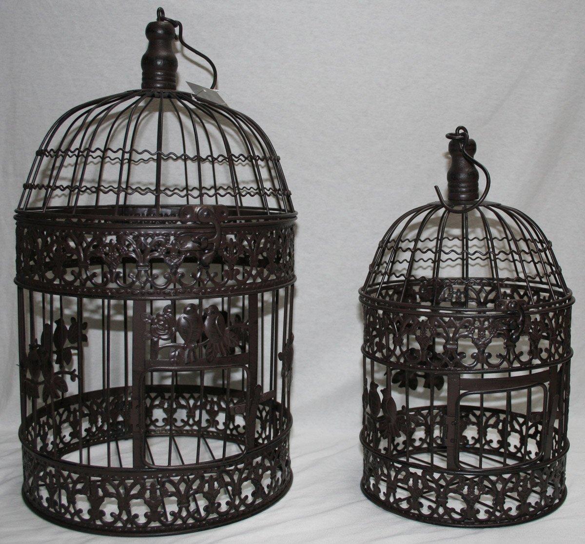 Moritz® Maceta Jaula Jaula Decorativa pájaro Jaula Pareja de ...