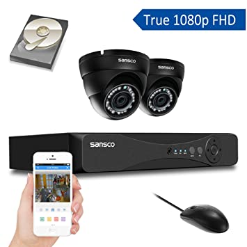 Sansco all in one smart cctv camera system with 1080p amazon sansco all in one smart cctv camera system with 1080p dvr and 2 hd publicscrutiny Images