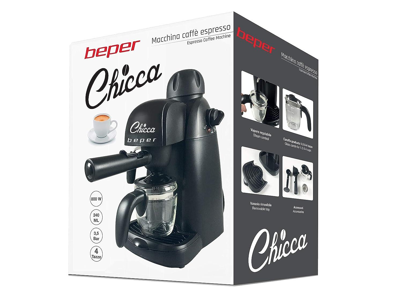 Beper BC.002 Espresso Cafetera, color Negro: Amazon.es: Hogar