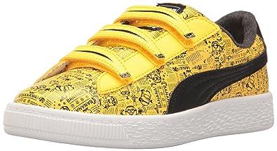 PUMA Baby Minions Basket V Kids Sneaker Minion Yellow Black 6 M US Toddler