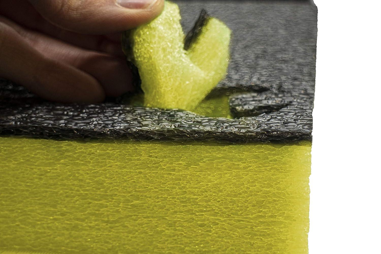 Shadow Foam Easy Peel Profundidad de 30mm , Negro sobre rojo 600mm x 420mm | espuma personalizable para organizar cajas de herramientas Paquete de cinco