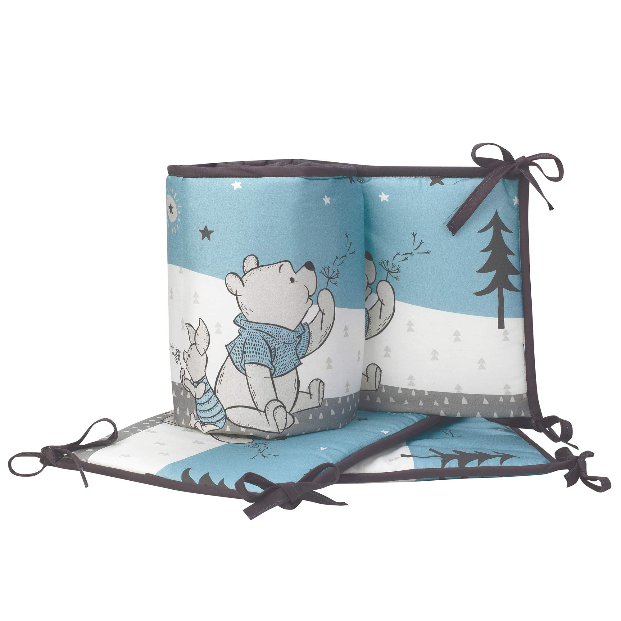 Lambs & Ivy Forever Pooh 4Piece Baby Crib Bumper, Blue by Lambs & Ivy