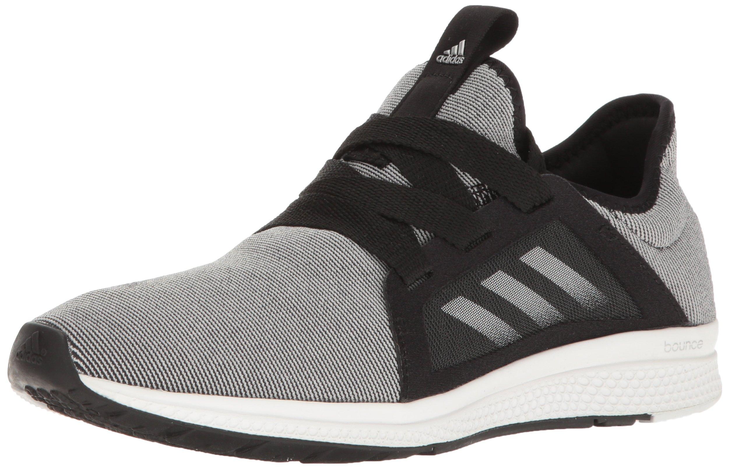 adidas Performance Women's Edge Lux W Running Shoe, Black/White/Metallic/Silver, 6 M US