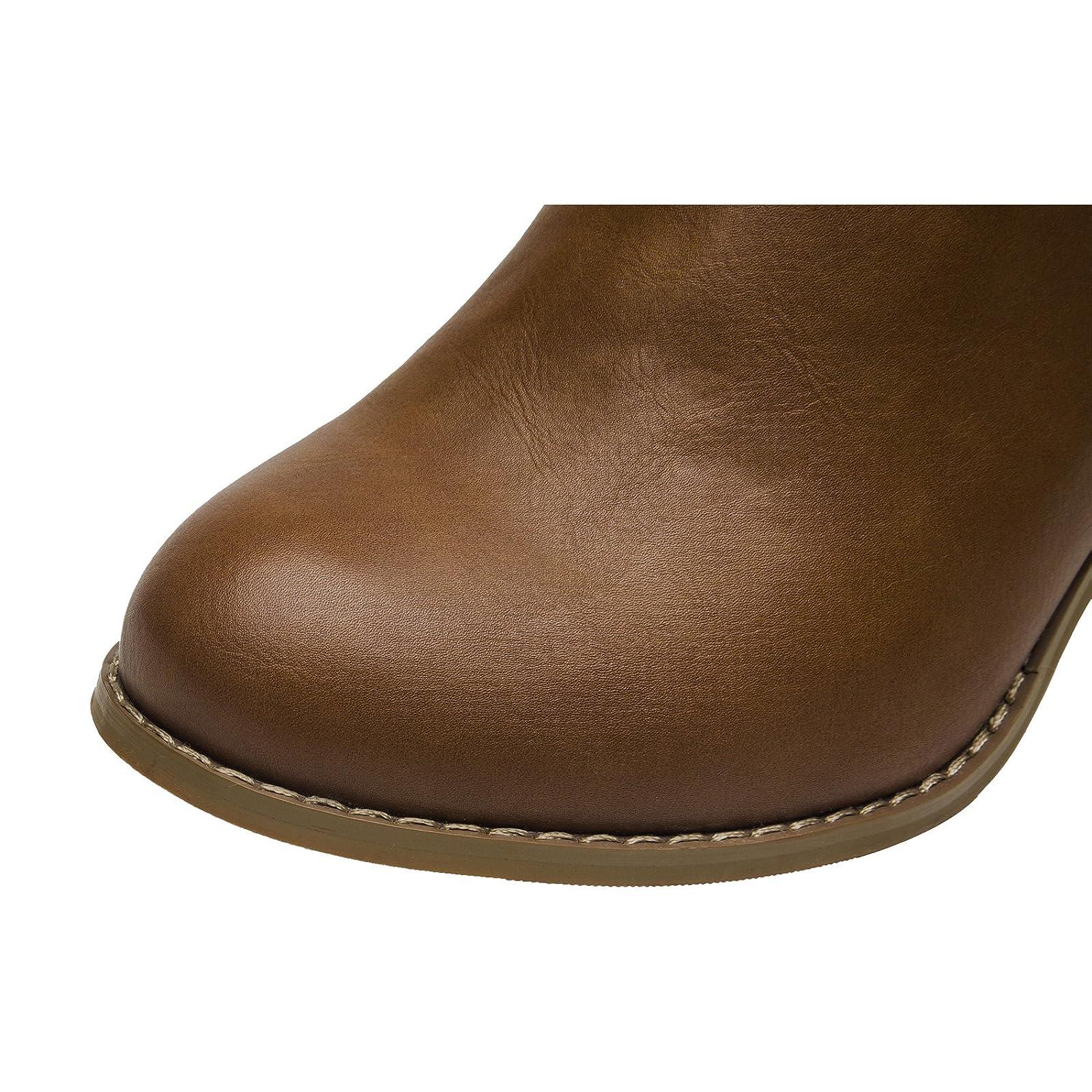 Luoika Plus Size Wide Width Ankle BootsWomen - 4